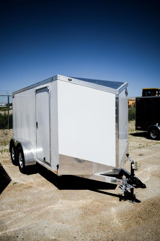 2019 Cargo Mate 6X12 Enclosed Cargo Trailer 7k Ramp Aluminium