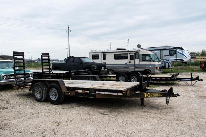 2013 Kaufman Trailers 7 x 18 Equipment Trailer 14K