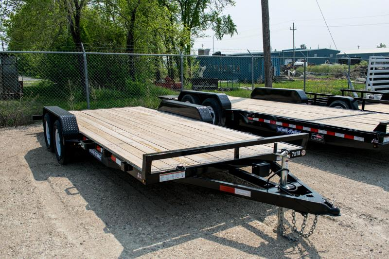 2019 Sure-Trac 7 X 18 Wood Deck Car Hauler 7k