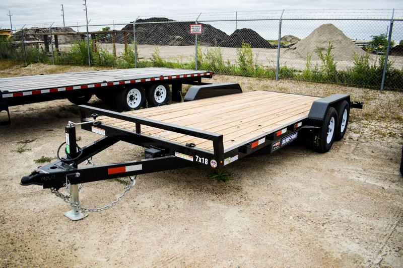 2019 Sure-Trac 7 X 18 Wood Deck Car Hauler 10k