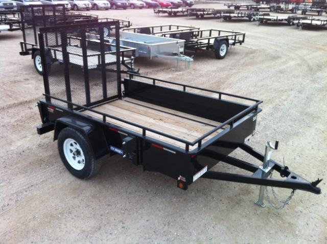 2016 Sure-Trac Steel High Side Utility Trailer 5X8