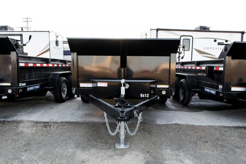 2020 Sure-Trac 6 x 12 10K Single Ram Hyd. Dump Trailer