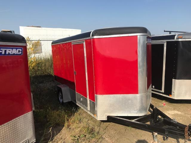 2015 Sure-Trac 6 x 12 Round Top Wedge Cargo/Enclosed Trailer 3.5K Ramp