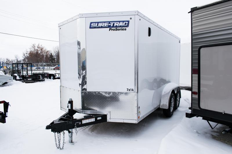 2020 Sure-Trac 7 x 14 Pro Series Wedge Cargo TA 10K Ramp