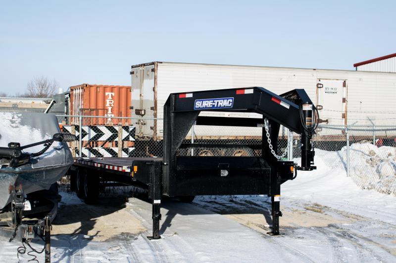 2020 Sure-Trac 8.5 X 20+4 Gooseneck Beavertail Deckover  14K