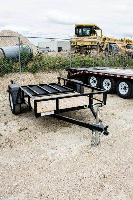 2019 Sure-Trac 5 x 8 Angle Iron Utility Trailer 3k