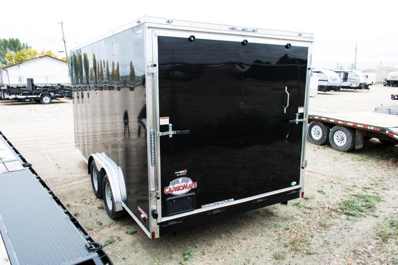 2019 Cargo Mate 8 X 16 Enclosed/Cargo Trailer 7K Ramp