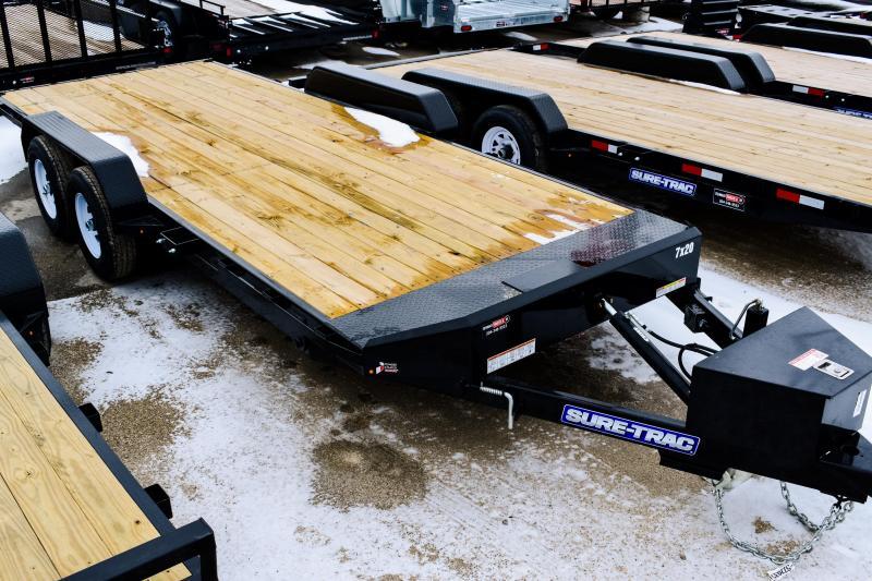 2018 Sure-Trac 7 x 20 TPower Tilt Bed Car Hauler 10k