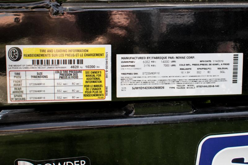 2019 Sure-Trac 7 X 14 LP 14K Scissor Dump
