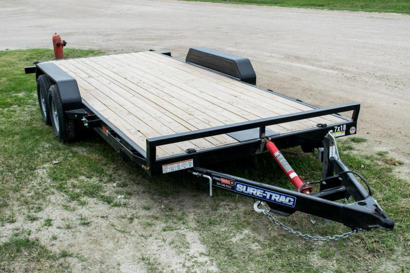 2020 Sure-Trac 7 x 18 Tilt Bed Car Hauler  10k