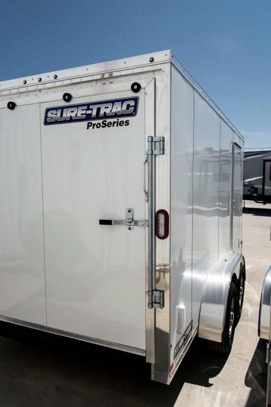 2019 Sure-Trac 7 x 14 Pro Series Wedge Cargo TA 10K Ramp