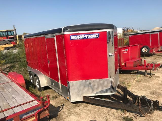 2015 Sure-Trac 7 x 16 V-Nose Cargo Enclosed Trailer 10K Ramp