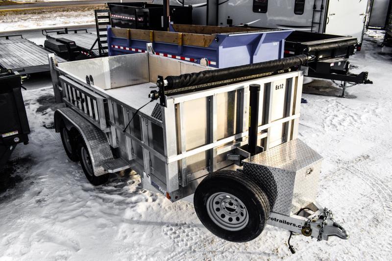 2018 CargoPro Trailers 6X12 Aluminum Dump Trailer 10K