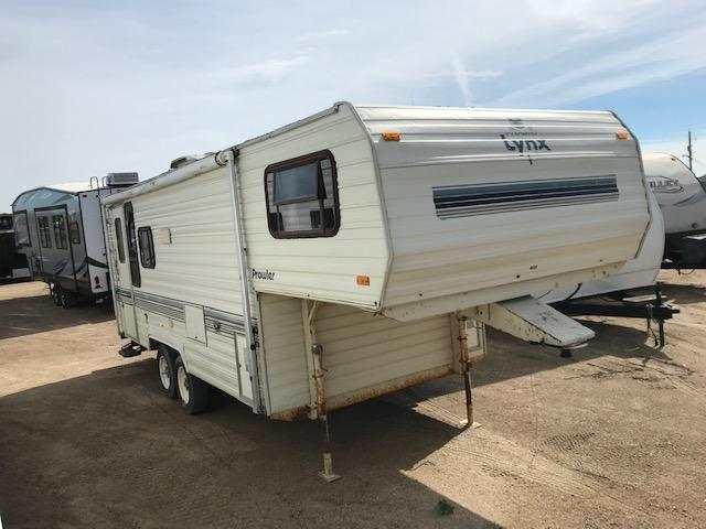 Wholesale Special 1990 Prowler Lynx 245H Fifth Wheel Campers RV