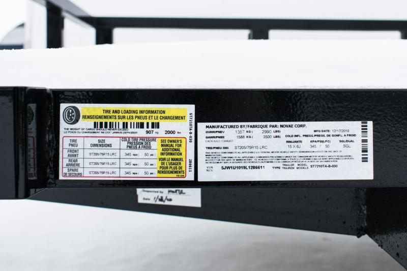 2020 Sure-Trac 6 X 10 Tube Top Utility  3k Idler