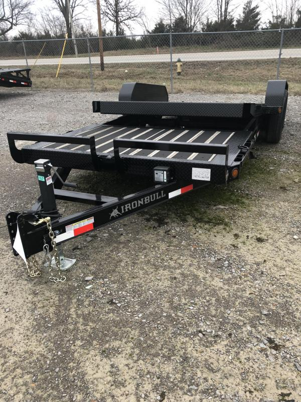 2019 Iron Bull TLB104 - 10400lb GVWR Tandem Axle Low-Pro Tilt Equipment Trailer