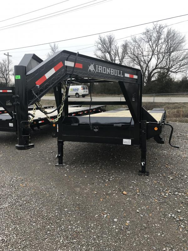 2019 Iron Bull FDG - 14K 20 + 5' Gooseneck Deckover Equipment Trailer