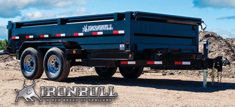 "2019 Iron Bull 7K 83"" x 16' Lo-Pro Dump GN Trailer"