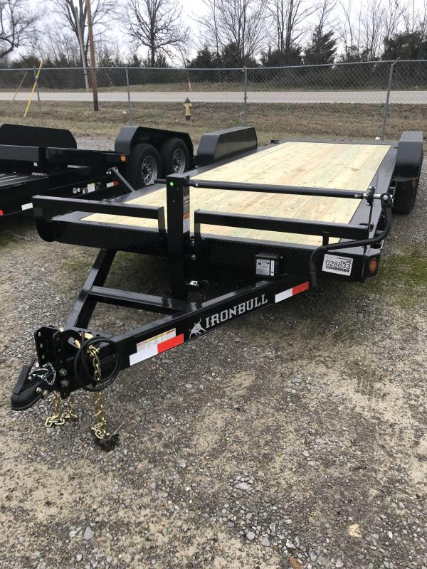 2019 Iron Bull TLB - 14K 83 x 22' Tilt Low Pro Bumper Pull Equipment Trailer