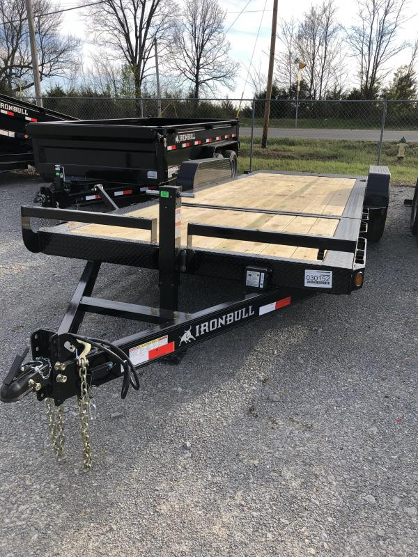 "2019 Iron Bull 7K 83""x22' (16' Tilt) Equipment Trailer"