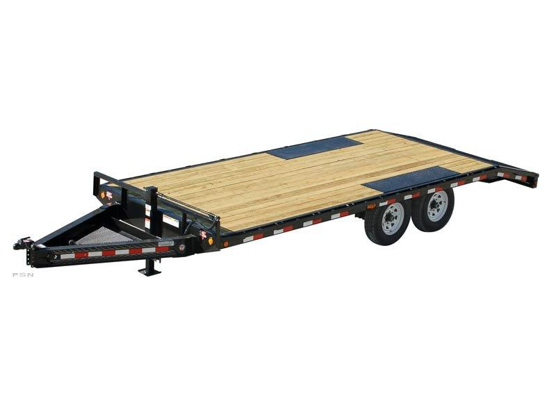 2020 8x19+3 PJ Trailers 8 in. I-Beam Deckover (F8) Flatbed Trailer