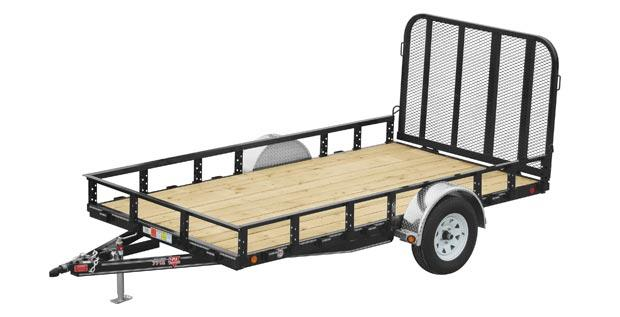 2020 6.5x14 PJ Trailers 77 in. Single Axle Channel Utility (U7) Utility Trailer