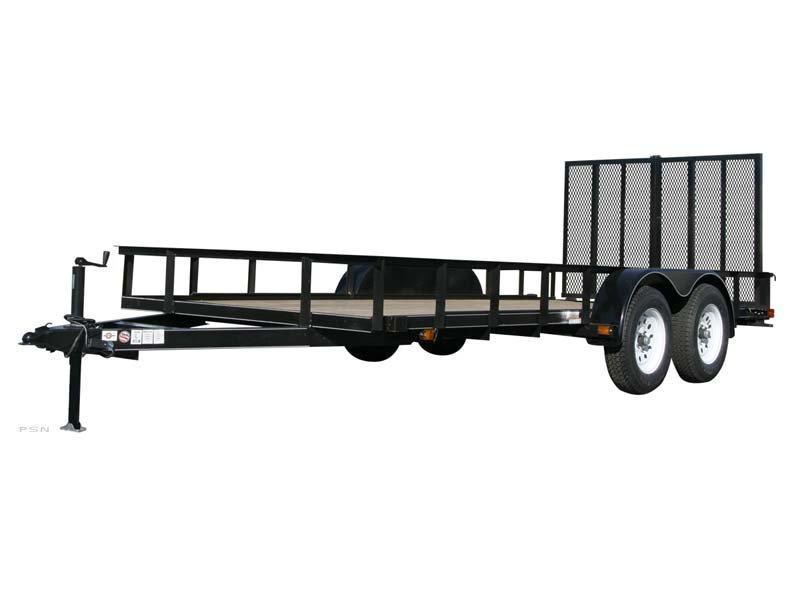 2018 Carry-On 6X16GW1BRK - 7000 lbs. GVWR 6 ft. Tandem Wood Floor Utility Trailer
