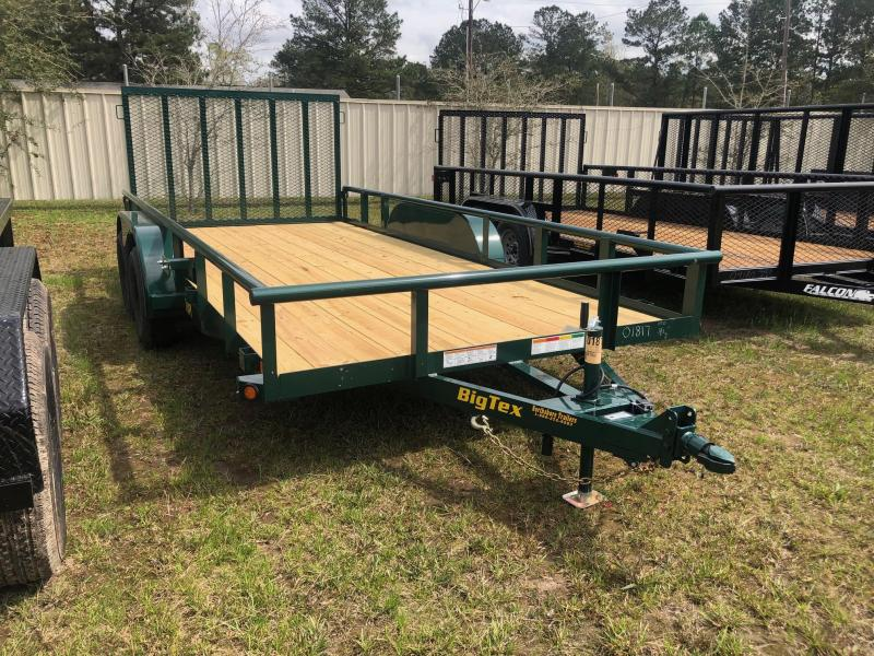 2019 6.10x16 Big Tex Trailers Green