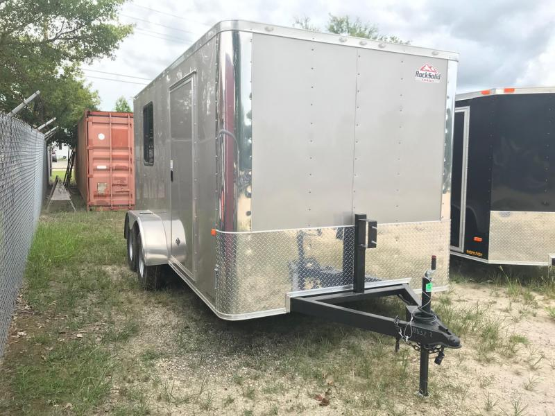 2019 7x14 Rock Solid Cargo TA FF Enclosed Cargo Trailer