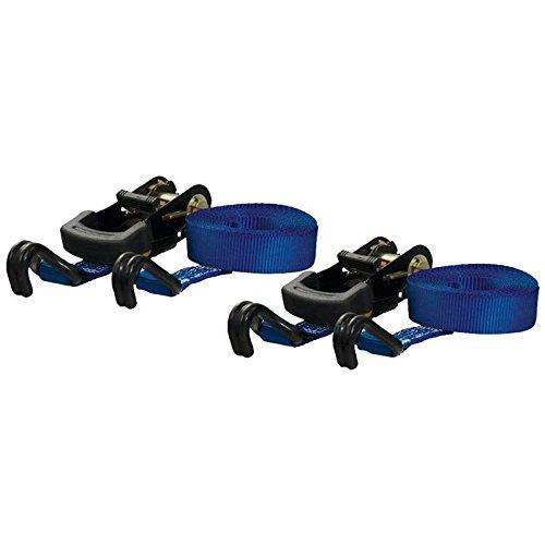 Curt Manufacturing Cargo Ratchet Straps 1inx16ftx733WLL 2 Pack Blue