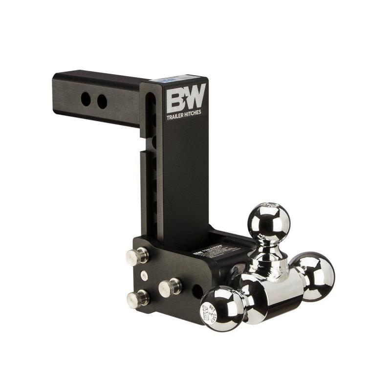 "B&W TS20049B Tow & Stow Receiver Hitch Tri-Ball with 2.5"" Shank"