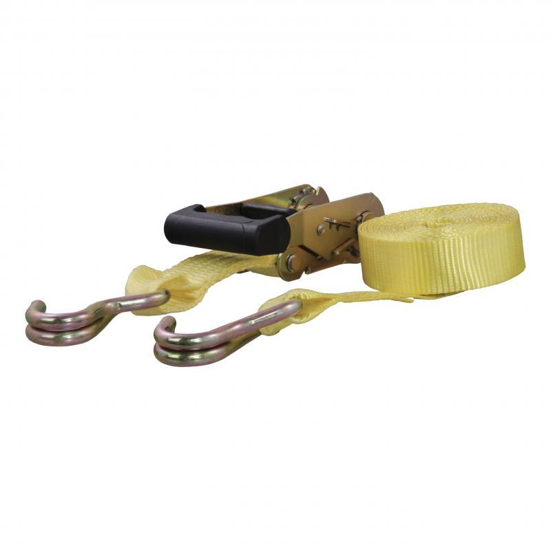 CURT Cargo Straps 1.5inx14ftx1667WLL 1pk Yellow