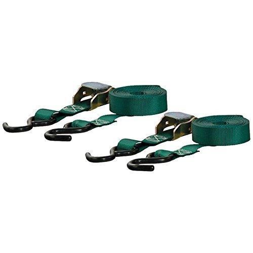 Curt Cargo Straps 1inx15ftx300WLL 2Pk Green