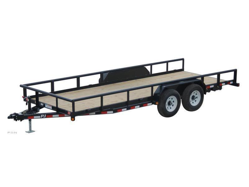 2019 6.10x22 PJ Trailers Angle Pipetop (P8) Equipment Trailer