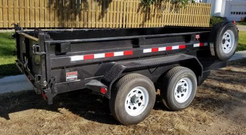 2019 PJ Trailers 12' x 72 in. Tandem Axle Dump (D3) Dump Trailer