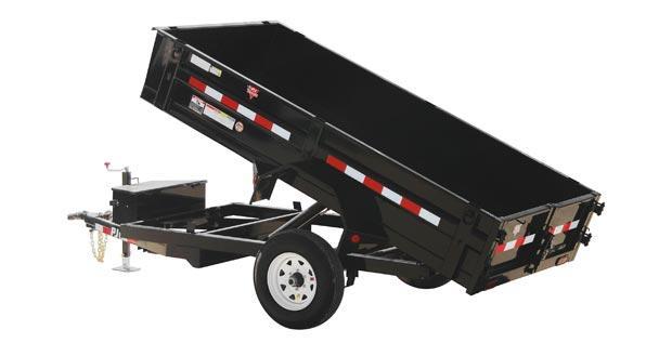 2020 PJ Trailers 10' x 60 in. Utility Dump (D5) Dump Trailer