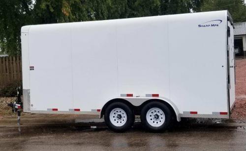 2019 Sharp Model 7' x 16' Enclosed Cargo Trailer