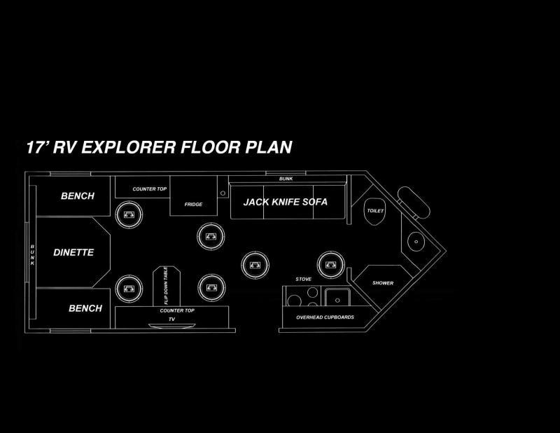 2019 Glacier 17 RV Explorer Ice/Fish House Trailer