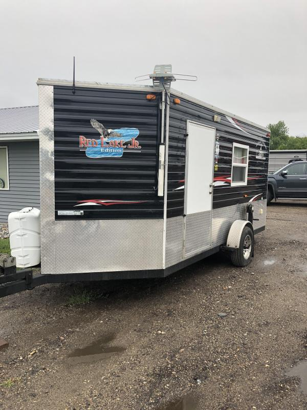 2014 Ice Castle Red Lake Jr 6.5x14 Ice/Fish House Trailer