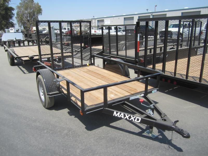 2016 Maxxd Trailers 8X61 WHITE SERIES ANGLE SINGLE AXLE Utility Trailer