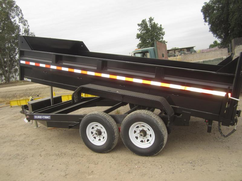 2017 Sure-Trac 82 X 14 LOW-PRO 14K TELESCOPIC DUMP Dump Trailer