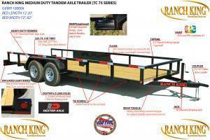 """2018 Ranch King 6'10""""X16' Utility Trailer  ******HAVE EVERY SIZE YOU MAY NEED IN STOCK******"""