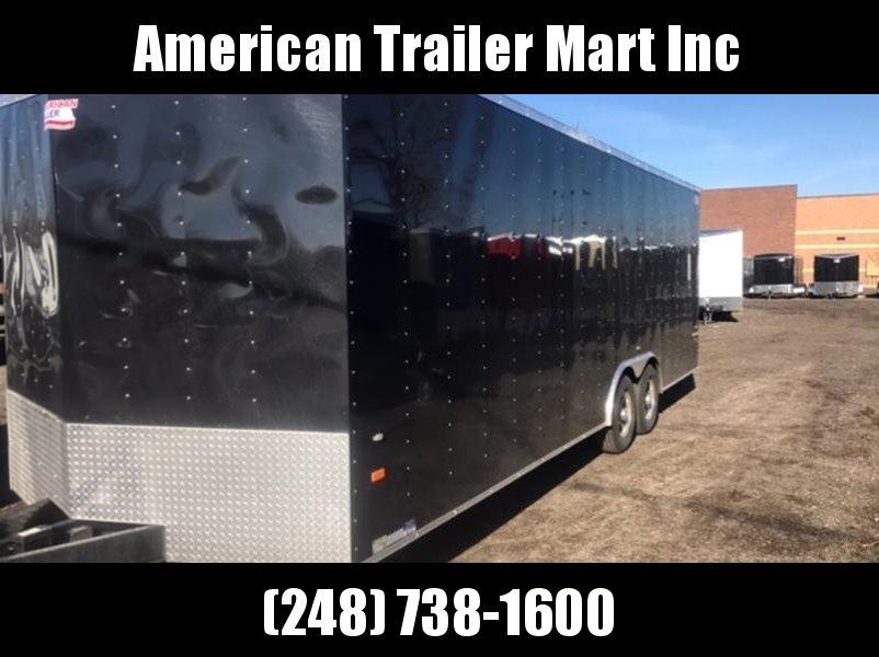 8 5 X 24 Tandem Axle Enclosed Car Hauler Trailer American