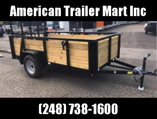 6 X 10 Single Axle Open Utility Trailer
