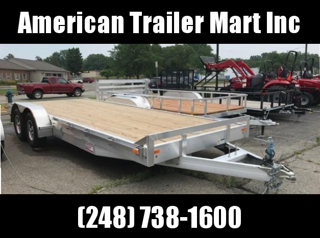 "82"" X 20 Tandem Axle Equipment Trailer / Flatbed / Open Car Hauler Trailer"