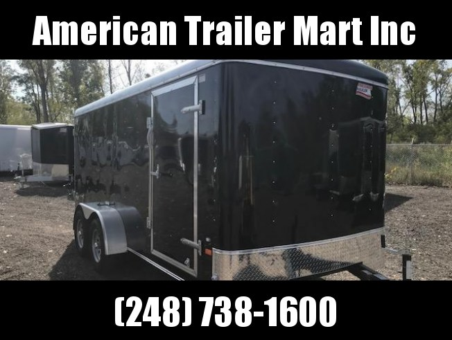 7 X 16 Tandem Axle Enclosed Trailer