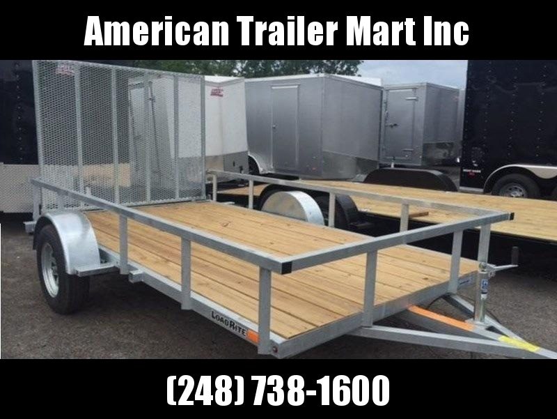 6.5 X 12 Galvanized Single Axle Open Utility Trailer