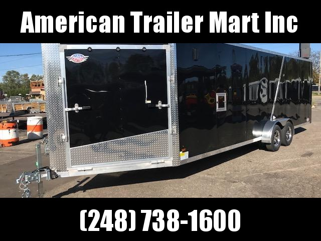 7 X 29 Tandem Axle Snowmobile Trailer