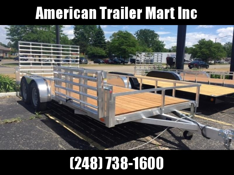 7 X 16 Tandem Axle  Open Utility Trailer