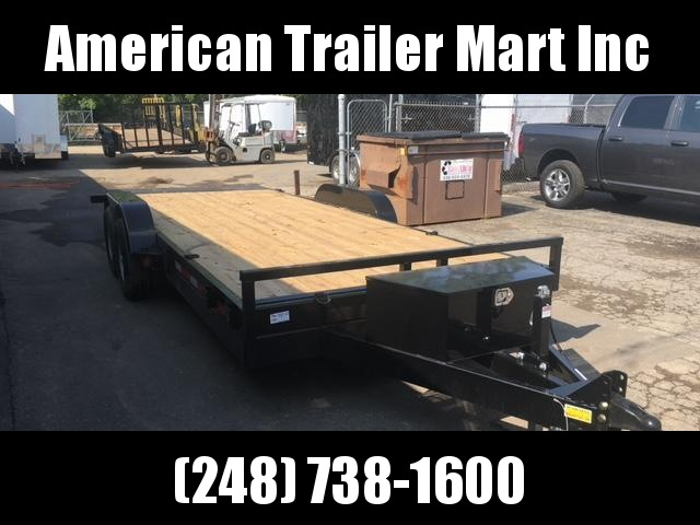 83 X 18 Hydraulic Tilt Equipment Hauler/Flatbed Trailer